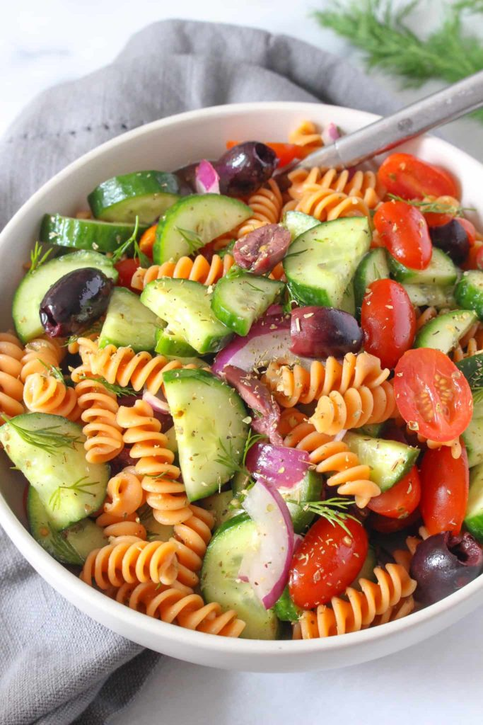 Gluten Free Greek Pasta Salad Chelsey Amer Recipe
