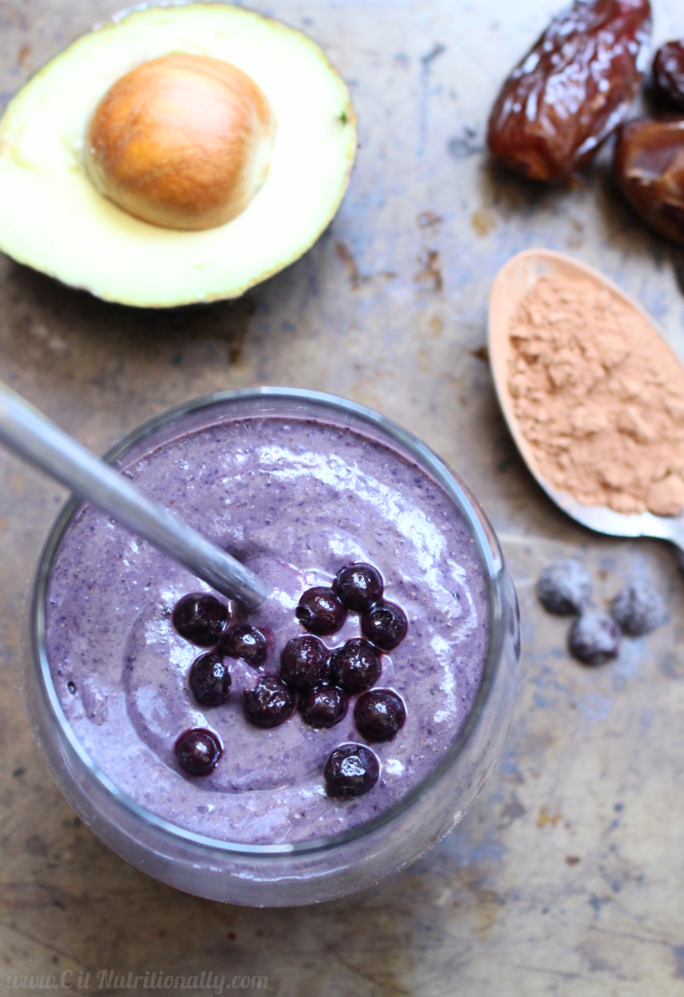 Creamy Chocolate Blueberry Smoothie Chelsey Amer