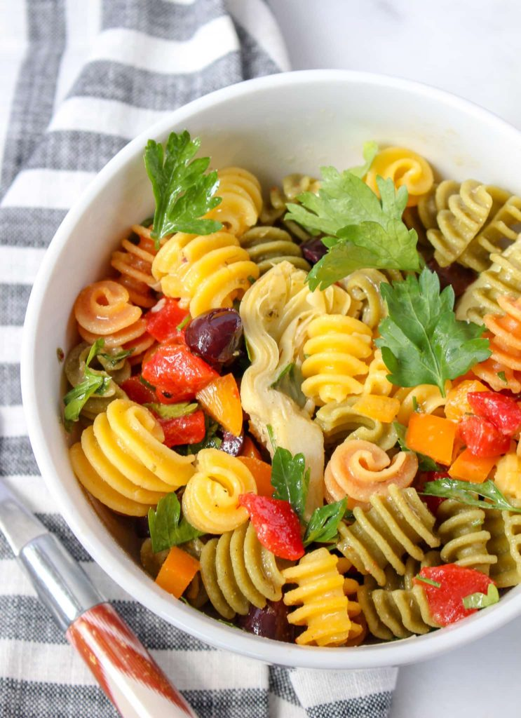 Gluten Free Italian Pasta Salad - Chelsey Amer