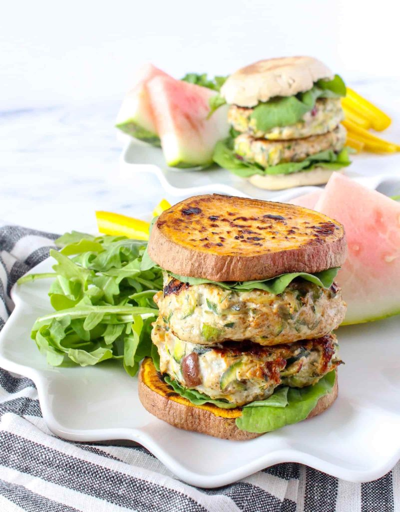 Healthy Greek Chicken Burgers Chelsey Amer